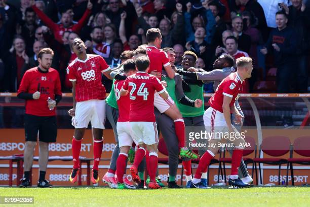 Chris Cohen of Nottingham Forest celebrates after scoring a goal to make it 20 during the Sky Bet Championship match between Nottingham Forest and...
