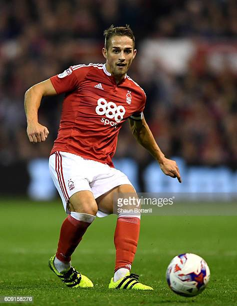 Chris Cohen of Nottingham Forest in action during the EFL Cup Third Round match between Nottingham Forest and Arsenal at City Ground on September 20...
