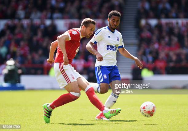 Chris Cohen of Nottingham Forest shoots during the Sky Bet Championship match between Nottingham Forest and Ipswich Town at City Ground on May 7 2017...
