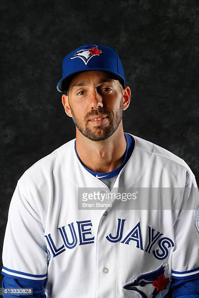 Chris Colabello of the Toronto Blue Jays poses for a photo during the Blue Jays' photo day on February 27 2016 in Dunedin Florida