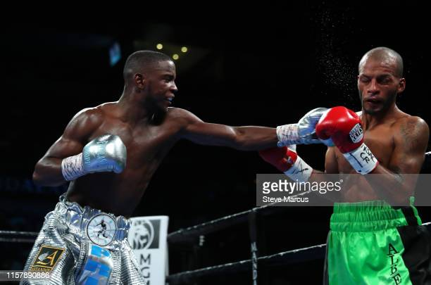 Chris Colbert connects with a punch on Albert Mercado during a lightweight fight at the Mandalay Bay Events Center on June 23 2019 in Las Vegas...
