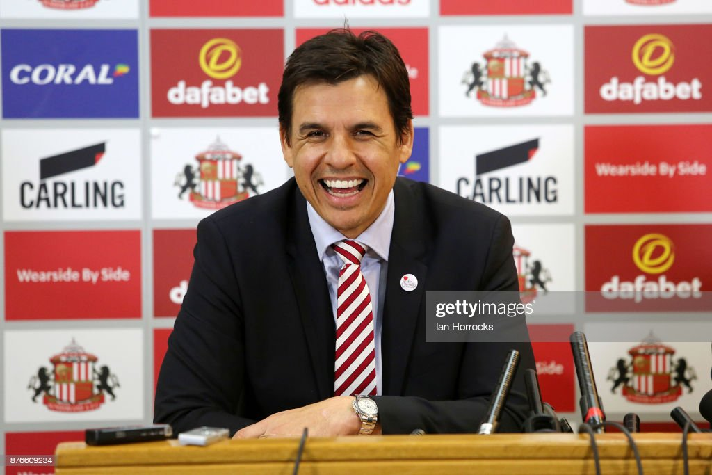 New Sunderland Manager Chris Coleman Press Conference : News Photo