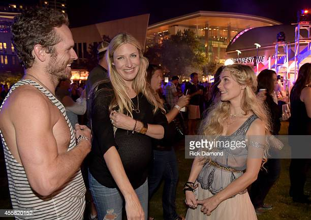 Chris Coleman Holly Williams and Clare Bowen attend the Music City Food Wine Festival Harvest Night Presented By Infiniti on September 20 2014 in...