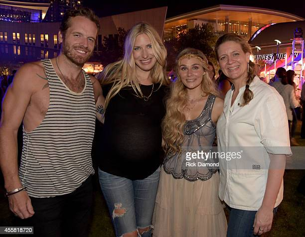 Chris Coleman Holly Williams Clare Bowen and Amanda Freitag attend the Music City Food Wine Festival Harvest Night Presented By Infiniti on September...