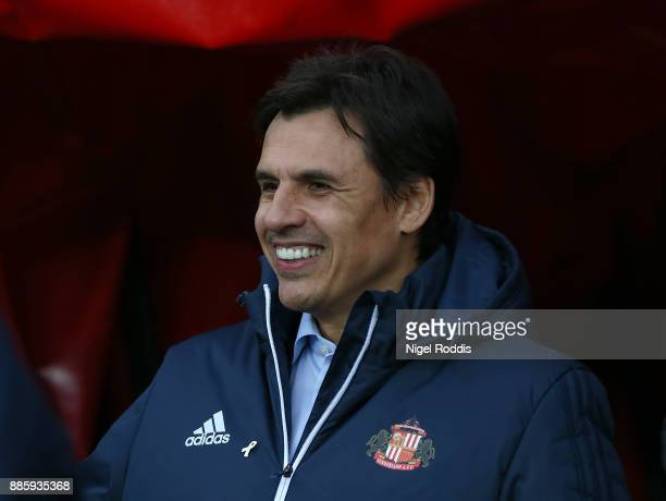 Chris Coleman manager of Sunderland during the Sky Bet Championship match between Sunderland and Reading at Stadium of Light on December 2 2017 in...