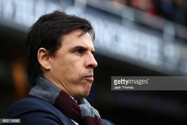 Chris Coleman manager of Sunderland looks on ahead of the Sky Bet Championship match between Queens Park Rangers and Sunderland at Loftus Road on...