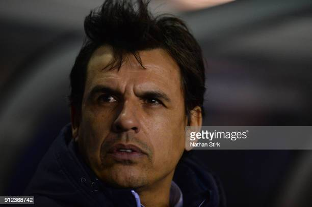 Chris Coleman manager of Sunderland looks on during the Sky Bet Championship match between Birmingham City and Sunderland at St Andrews on January 30...