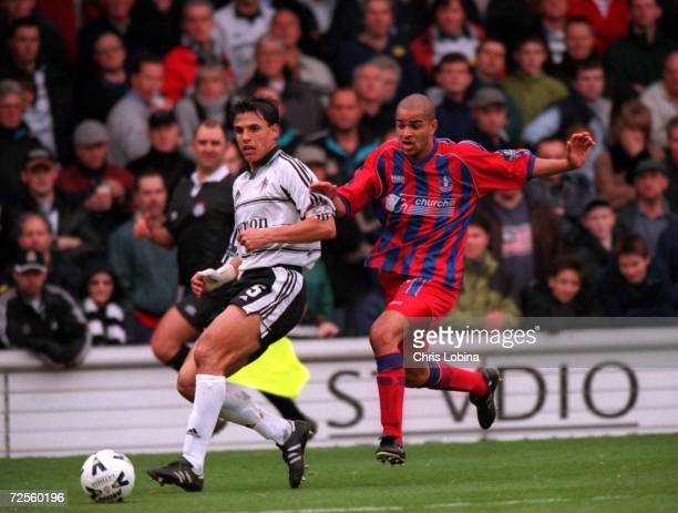 Chris Coleman the Fulham Captain and Leon McKenzie of Palace in action during the match between Fulham v Crystal Palace in the Nationwide League...