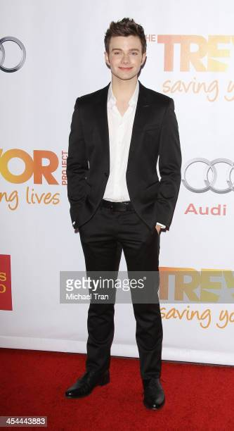 Chris Colfer arrives at the 15th Annual Trevor Project Benefit held at Hollywood Palladium on December 8 2013 in Hollywood California