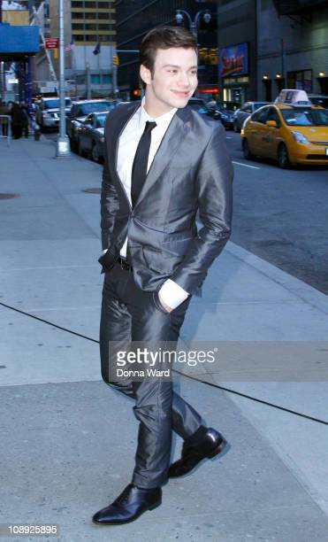 Chris Colfer arrives to the 'Late Show With David Letterman' at the Ed Sullivan Theater on February 8 2011 in New York City