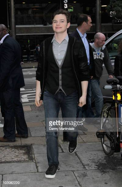 Chris Colfer attends a birthday dinner for Kevin McHale at Mint Leaf on June 14, 2010 in London, England.