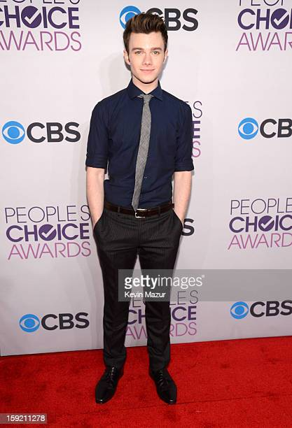 Chris Colfer attends the 2013 People's Choice Awards at Nokia Theatre LA Live on January 9 2013 in Los Angeles California