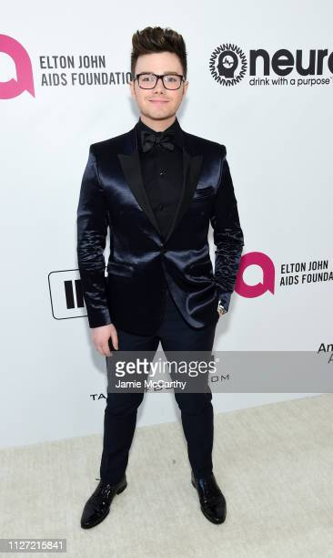 Chris Colfer attends the 27th annual Elton John AIDS Foundation Academy Awards Viewing Party sponsored by IMDb and Neuro Drinks celebrating EJAF and...