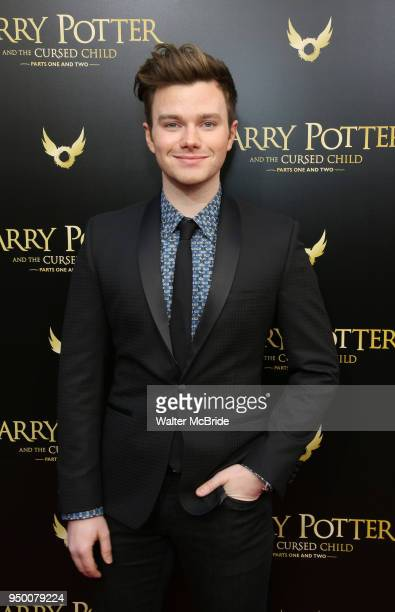 Chris Colfer attends the Broadway opening day performance of 'Harry Potter and the Cursed Child Parts One and Two' at The Lyric Theatre on April 22...