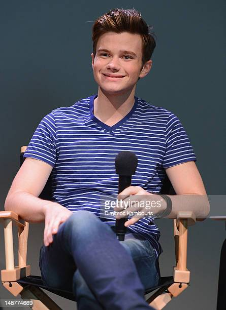 Chris Colfer attends the Meet The Author Chris Colfer The Land Of Stories at the Apple Store Soho on July 19 2012 in New York City