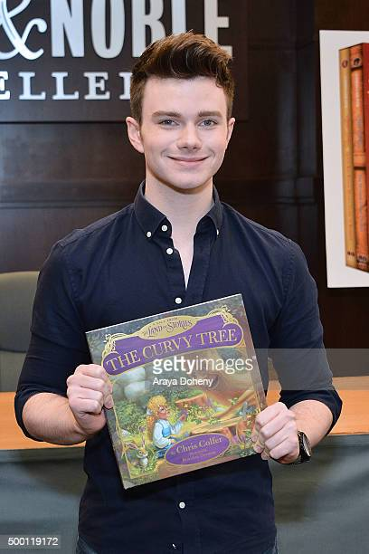 Chris Colfer signs and discusses copies of Adventures From The Land Of Stories boxed set at Barnes Noble at The Grove on December 5 2015 in Los...
