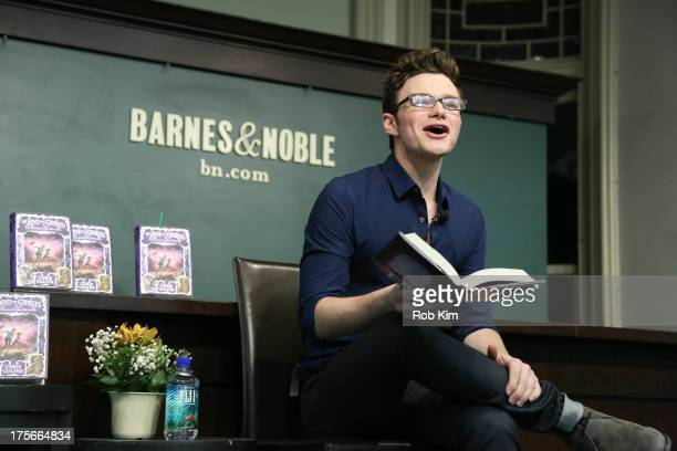 Chris Colfer signs copies of his new book The Land of Stories The Enchantress Returns at Barnes Noble Union Square on August 6 2013 in New York City