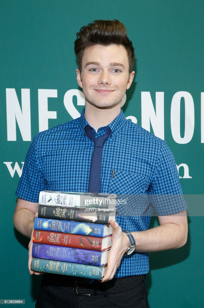 "Chris Colfer Signs Copies Of ""The Land Of Stories: Worlds Collide"""