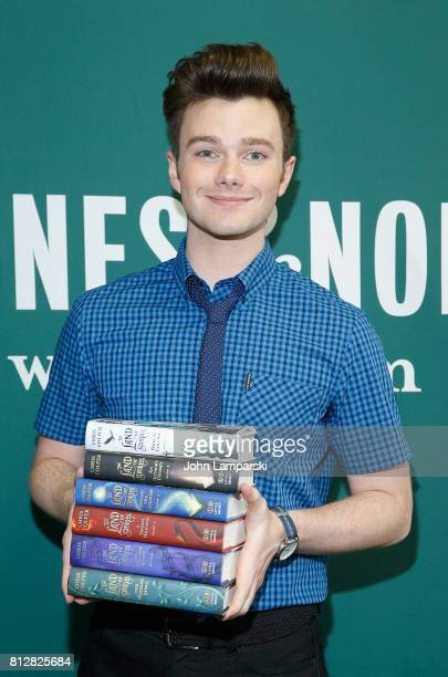 Chris Colfer signs copies of The Land of Stories Worlds Collide at Barnes Noble Union Square on July 11 2017 in New York City