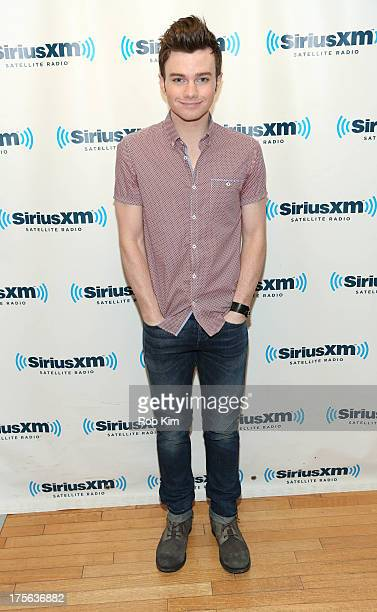 Chris Colfer visits at SiriusXM Studios on August 5 2013 in New York City
