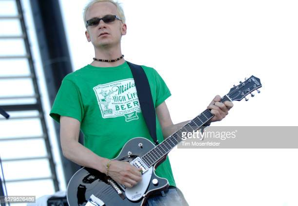 Chris Collingwood of Fountains of Wayne performs during Coachella 2005 at the Empire Polo Fields on April 28, 2007 in Indio, California.