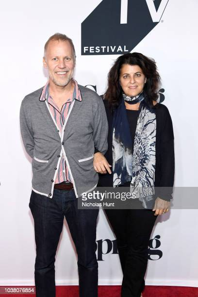 Chris Collins and Lydia Tenaglia attend the Anthony Bourdain Parts Unknown Season 12 Premiere during the 2018 Tribeca TV Festival at Spring Studios...