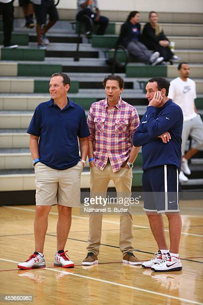 Chris Collins Head Coach of Northwestern University Head Coach Quinn Snyder of the Utah Jazz and Head Coach Mike Krzyzewski of the USA Basketball...
