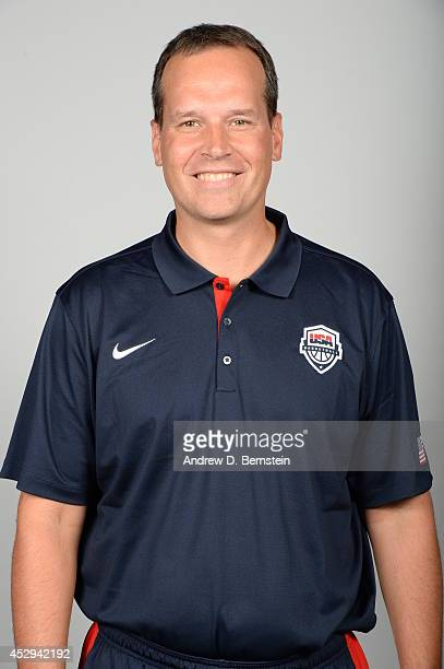 Chris Collins Head Coach of the USA Basketball Men's Select Team poses for a headshot at Cox Pavilion at the University of Nevada Las Vegas on July...