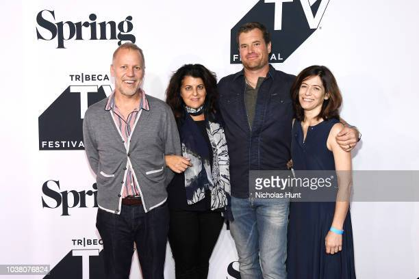 Chris Collins Lydia Tenaglia Morgan Fallon and Sandy Zweig attend the Anthony Bourdain Parts Unknown Season 12 Premiere during the 2018 Tribeca TV...