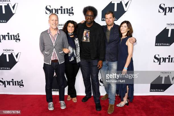 Chris Collins Lydia Tenaglia W Kamau Bell Morgan Fallon and Sandy Zweig attend the Anthony Bourdain Parts Unknown Season 12 Premiere during the 2018...