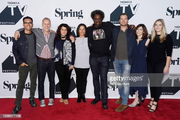 Chris Collins Lydia TenagliaW Kamau Bell Morgan Fallon and Sandy Zweig attend the Anthony Bourdain Parts Unknown Season 12 Premiere during the 2018...