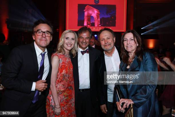 Chris Columbus Allyson Green Peter Terezakis Billy Crystal and Janice Crystal during the NYU Tisch School of the Arts GALA 2018 at Capitale on April...