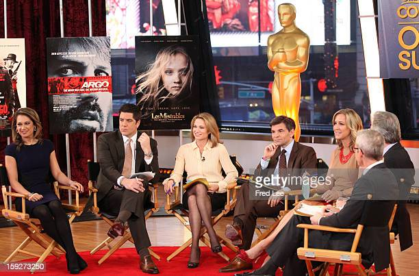 """Chris Connelly and Jess Cagle discuss Oscar nomination on """"Good Morning America,"""" 1/10/13, airing on the Walt Disney Television via Getty Images..."""
