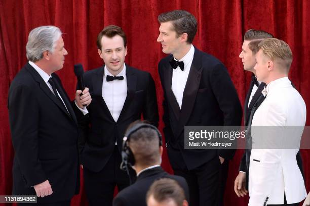 Chris Connelly with Joseph Mazzello Gwilym Lee Allen Leech and Ben Hardy attend the 91st Annual Academy Awards at Hollywood and Highland on February...