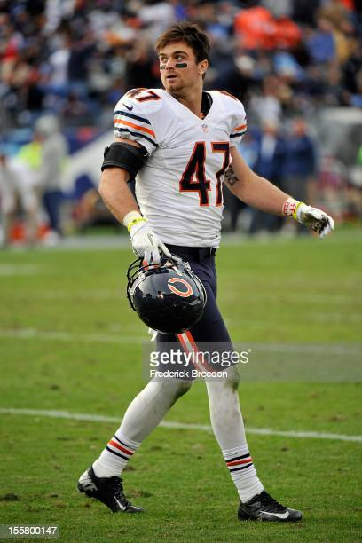 Chris Conte of the Chicago Bears plays against the Tennessee Titans at LP Field on November 4 2012 in Nashville Tennessee