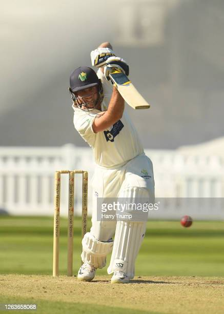 Chris Cooke of Glamorgan plays a shot during Day Three of the Bob Willis Trophy match between Somerset and Glamorgan at The Cooper Associates County...
