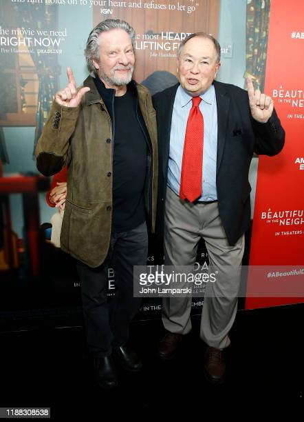 Chris Cooper and David Newell attends A Beautiful Day In The Neighborhood New York screening at Henry R Luce Auditorium at Brookfield Place on...