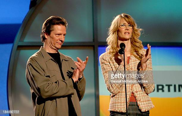 Chris Cooper and Laura Dern present for Best Supporting Male Award