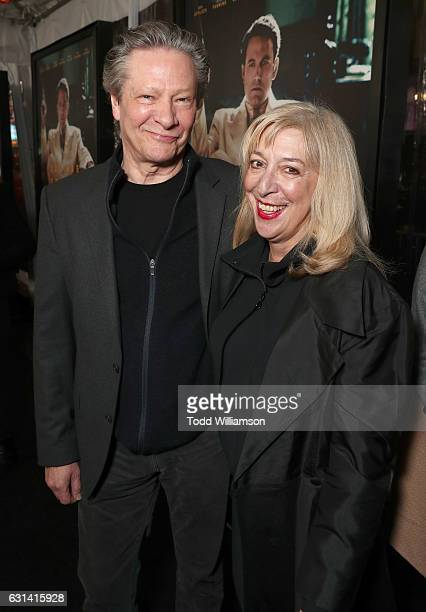 Chris Cooper and Marianne Leone attend the premiere Of Warner Bros Pictures' Live By Night at TCL Chinese Theatre on January 9 2017 in Hollywood...