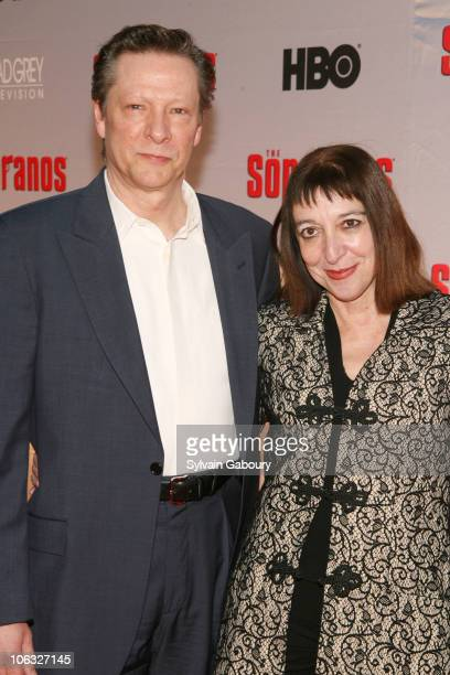 Chris Cooper and Marianne Leone during The Sopranos Final Season World Premiere Arrivals at Radio City Music Hall in New York City New York United...
