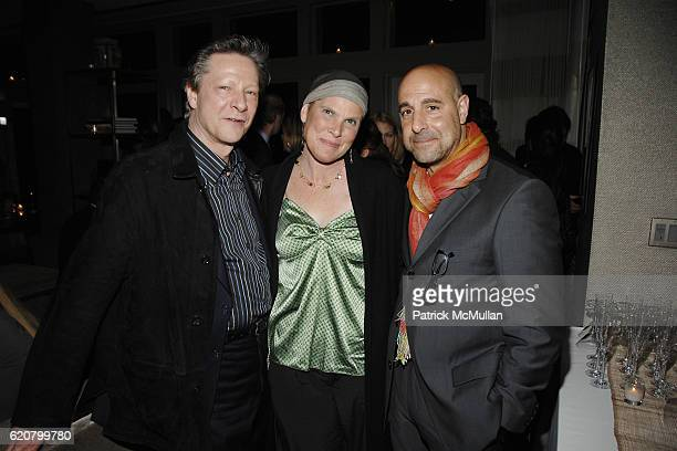 Chris Cooper Kate Spath and Stanley Tucci attend THE CINEMA SOCIETY NICOLE MILLER host the after party for MARRIED LIFE at Soho Grand Hotel on March...