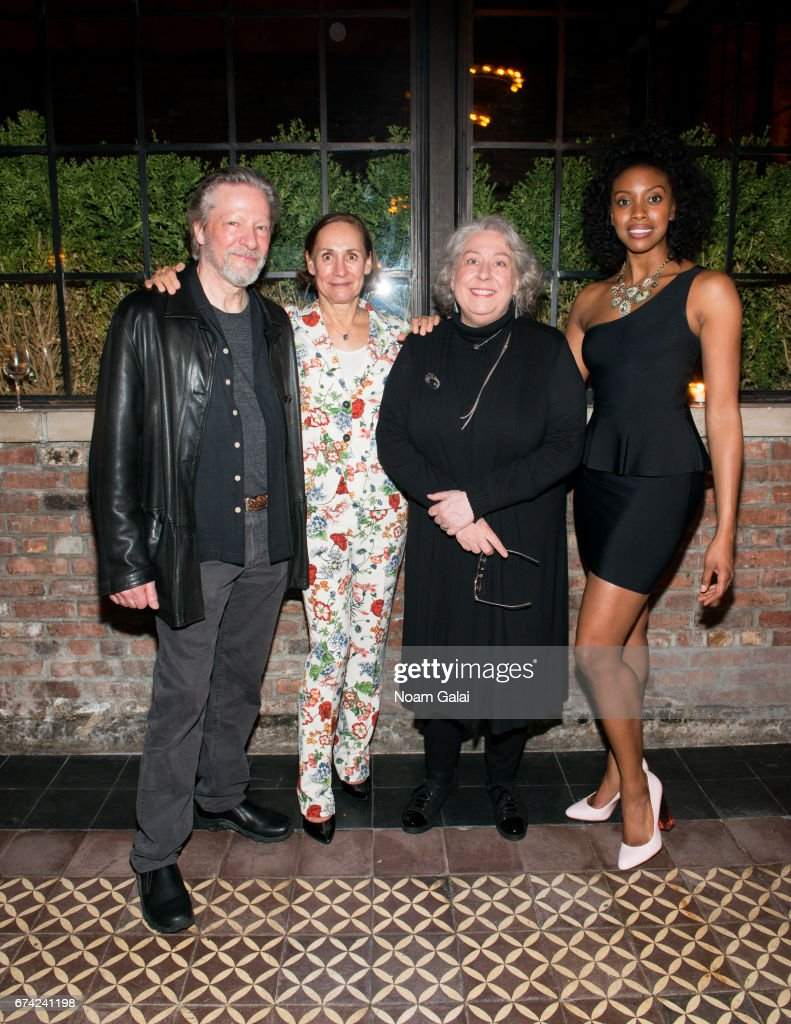 Chris Cooper, Laurie Metcalf, Jayne Houdyshell and Condola Rashad attend the after party for Lucas Hnath's 'A Doll's House, Part 2' opening night starring Laurie Metcalf and Chris Cooper at Golden Theatre on April 27, 2017 in New York City.