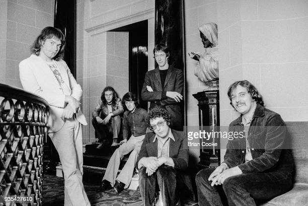 Chris Copping Alan Cartwright BJ Wilson Pete Solly Keith Reid and Garry Brooker of Procol Harum photographed at The Theatre Royal in London's Covent...