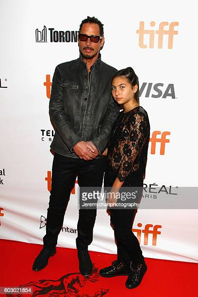 Chris Cornell and daughter Toni Cornell attend 'The Promise' premiere held at Roy Thomson Hall during the Toronto International Film Festival on...