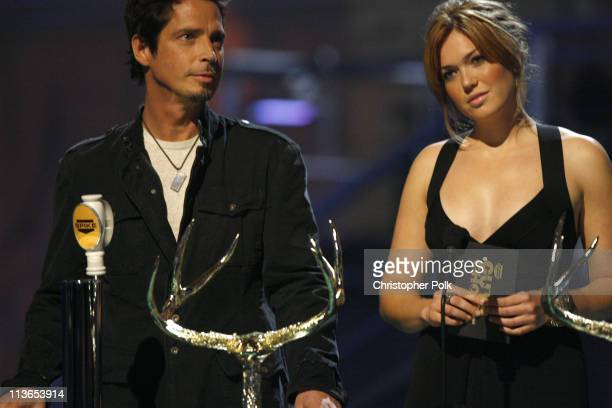 Chris Cornell and Mandy Moore present Ballsiest Band award