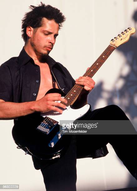 Chris Cornell and Soundgarden perform as part of Lollapalooza 1996 at Winebago County Fairgrounds on June 30 1996 in Rockford ILL