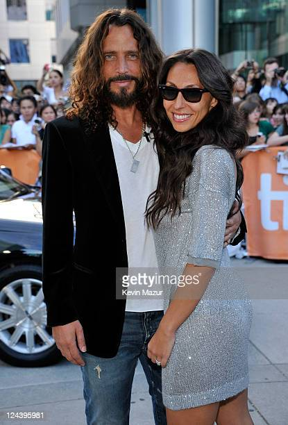 Chris Cornell and Vicky Karayiannis arrive to the 'Moneyball' premiere at Roy Thomson Hall during the 2011 Toronto International Film Festival on...