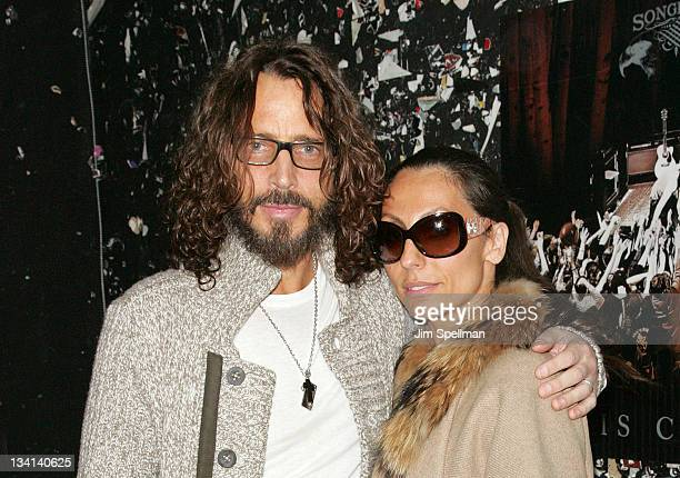 Chris Cornell and wife Vicky Karayiannis attend Back To Black Friday at Vintage Vinyl on November 26 2011 in Fords New Jersey