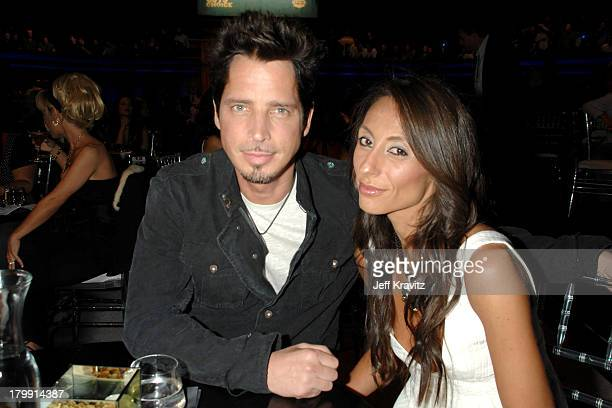 Chris Cornell and wife Vicky Karayiannis during First Annual Spike TV's Guys Choice Backstage and Audience at Radford Studios in Los Angeles...