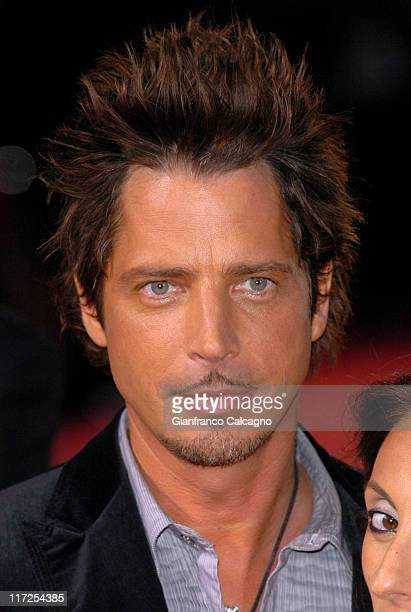Chris Cornell during 2006 World Music Awards Red Carpet Arrivals at Earls Court in London Great Britain